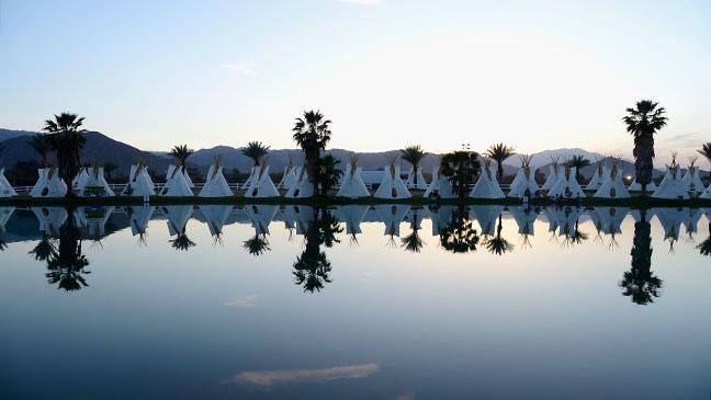 The Empire Polo Field Prepares For The 2013 Coachella Music Festival