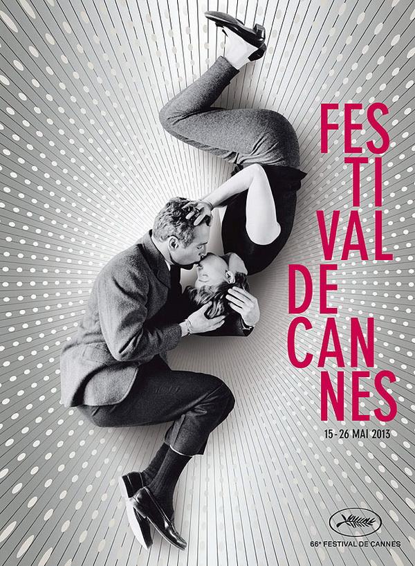 """Cartaz oficial de 2013 do Festival de Cannes, que mostra o beijo entre Paul Newman e Joanne Woodward, em """"Amor Daquele Jeito"""" (Imagem: Efe)"""