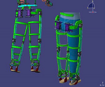 A schematic of the human exoskeleton. Image: Gordon Cheng.