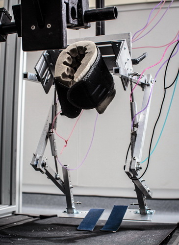 The monkey exoskeleton. Photo: Nick Pironio/Wired