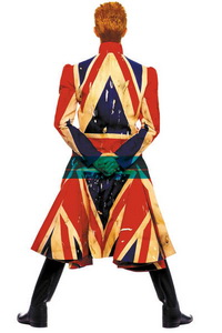 """Imagem original da roupa usada por Bowie para a capa do álbum """"Earthling"""", de 1997"""