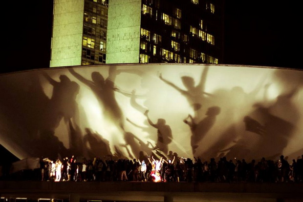 The most striking image was of protesters on the national congress building (Image: Mídia NINJA)