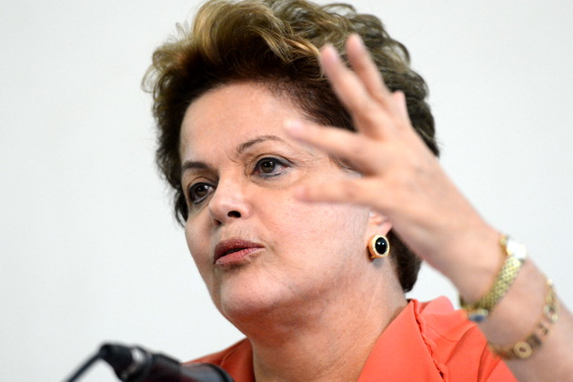 Brazil's president, Dilma Rousseff, who called in cabinet ministers to discuss the issue of NSA spying on Brazilians. (Photograph: Fabio Rodrigues Pozzebom/ABr)