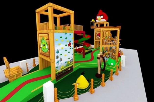 Maquete do Angry Birds Park, que foi inaugurado ontem em São Paulo